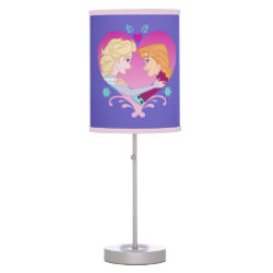 Disney Princesses Anna & Elsa in Heart Table Lamp