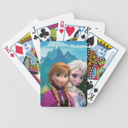 Playing Cards with Frozen's Anna & Elsa design