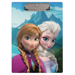 Clipboard with Frozen's Anna & Elsa design