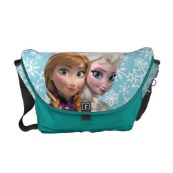 Rickshaw Medium Zero Messenger Bag with Frozen's Anna & Elsa design