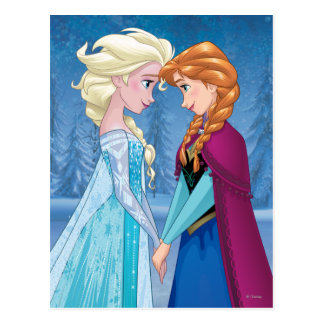Anna and Elsa   Together Forever Postcard