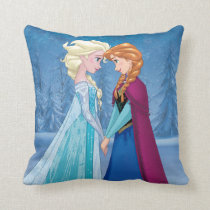 Anna and Elsa | Together Forever Throw Pillow