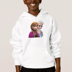 Girls' American Apparel Fine Jersey T-Shirt with Frozen's Anna & Elsa design