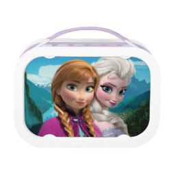 Purple yubo Lunch Box with Frozen's Anna & Elsa design