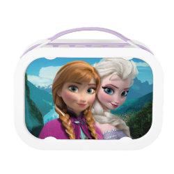 Purple yubo Lunch Box with Frozen's Anna & Elsa design