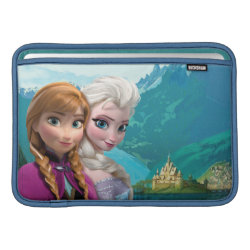 Macbook Air Sleeve with Frozen's Anna & Elsa design