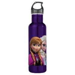 Water Bottle (24 oz) with Frozen's Anna & Elsa design