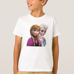 Kids' Hanes TAGLESS® T-Shirt with Frozen's Anna & Elsa design