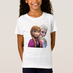 Girls' Fine Jersey T-Shirt with Frozen's Anna & Elsa design