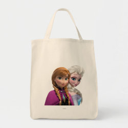 Grocery Tote with Frozen's Anna & Elsa design