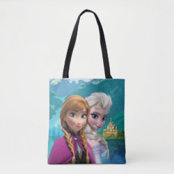 All-Over-Print Tote Bag, Medium with Frozen's Anna & Elsa design