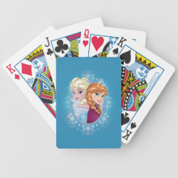 Playing Cards with Elsa and Anna Together design
