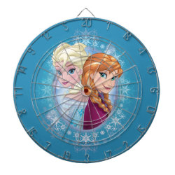 Megal Cage Dart Board with Elsa and Anna Together design