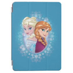 iPad Air Cover with Elsa and Anna Together design