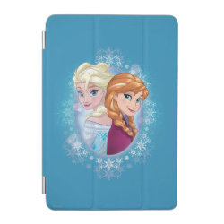 iPad mini Cover with Elsa and Anna Together design