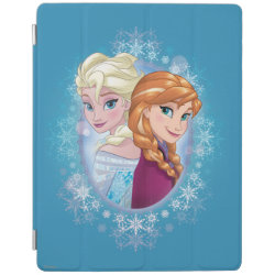 iPad 2/3/4 Cover with Elsa and Anna Together design