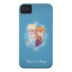 Anna and Elsa | Winter Magic iPhone 4 Case-Mate Case
