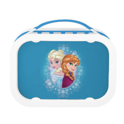 Blue yubo Lunch Box with Elsa and Anna Together design