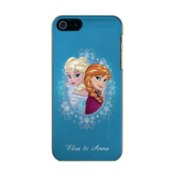Anna and Elsa | Winter Magic Metallic iPhone SE/5/5s Case
