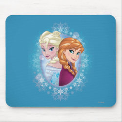 Mousepad with Elsa and Anna Together design