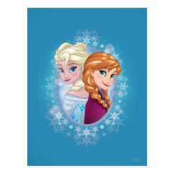 Postcard with Elsa and Anna Together design