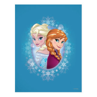 Anna and Elsa | Winter Magic Postcard