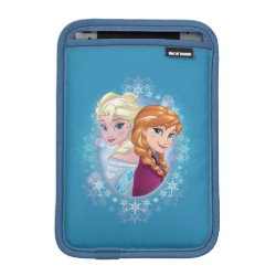 iPad Mini Sleeve with Elsa and Anna Together design