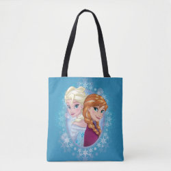 All-Over-Print Tote Bag, Medium with Elsa and Anna Together design