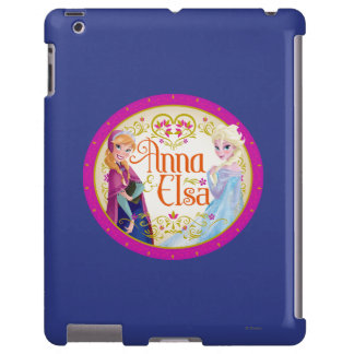 Anna and Elsa with Floral Frame