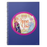 Anna and Elsa with Floral Frame Note Book