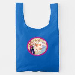 BAGGU Reusable Bag with Anna & Elsa Floral Design design