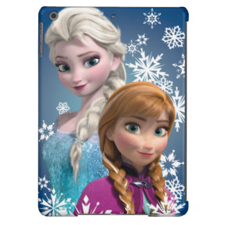 Anna and Elsa with Snowflakes Cover For iPad Air