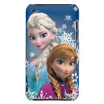 Anna and Elsa with Snowflakes Barely There iPod Covers