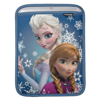 Anna and Elsa with Snowflakes Sleeves For iPads