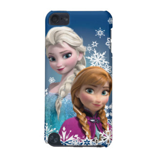 Anna and Elsa with Snowflakes iPod Touch (5th Generation) Cases
