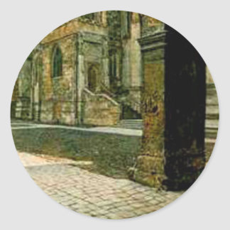 Anna Eton College Chapel by Sir Lawrence Alma Classic Round Sticker