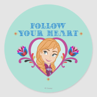 Anna | Follow your Heart Classic Round Sticker