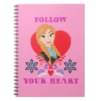 Anna - Follow Your Heart Spiral Note Books