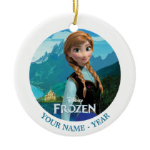 Anna | Frozen Logo And Anna Add Your Name Ceramic Ornament