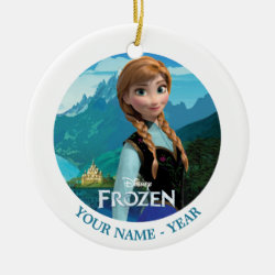 Circle Ornament with Disney's Frozen Anna design