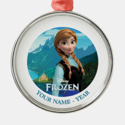 Premium circle Ornament with Disney's Frozen Anna design