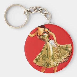 Anna Held Basic Round Button Keychain