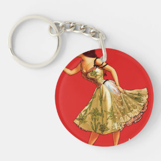 Anna Held Double-Sided Round Acrylic Keychain