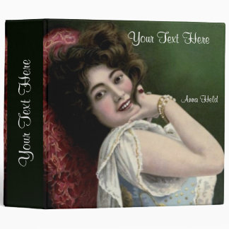 """Anna Held Portrait on a 2"""" 3 Ring Binder"""