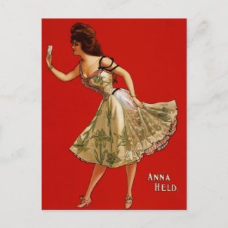 Anna Held postcard
