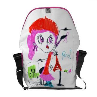 Anna in Paris Messenger Bag