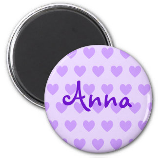 Anna in Purple 2 Inch Round Magnet