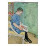 Anna Johanna Reading a Book Card