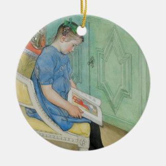 Anna Johanna Reading a Book Ceramic Ornament