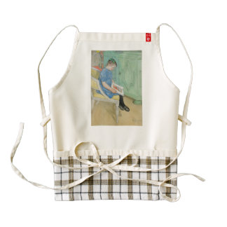 Anna Johanna Reading a Book Zazzle HEART Apron